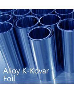 Alloy K / Nilo K / Kovar 0.30mm Thick Foil