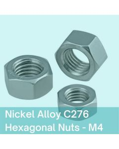 M4 Nickel Alloy / Hastelloy C276 Hexagonal Nuts
